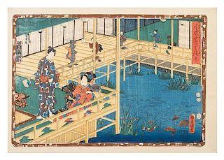 Utagawa Toyokuni, (1769-1825), Court Scene
