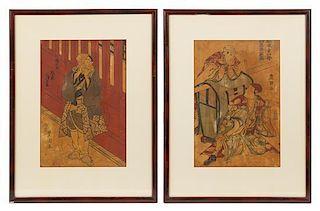 * Utagawa Toyokuni, (1769-1825), Male Figures