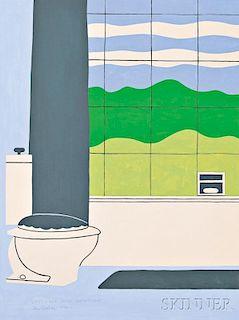 John Wesley (American, b. 1928)      Landscape with Bathroom