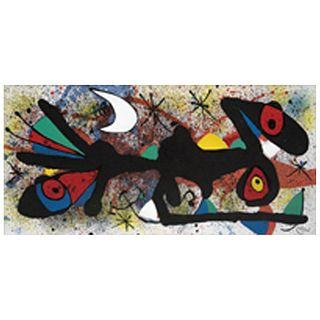 JOAN MIRÓ, from the series Miró & Artigas Ceramique, 1974.