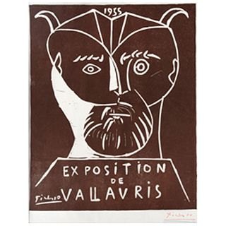 PABLO PICASSO, Exposition Vallauris, 1955.