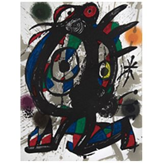 JOAN MIRÓ, Original lithograph I, from the suite of 12 original lithographs, 1972.