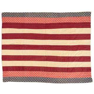Crib Quilt with Lincoln Hidden Message