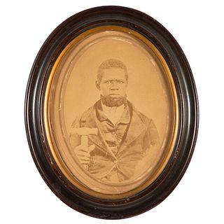 Salt Print of Identified African American Blacksmith, Franklin, Pennsylvania, 1864