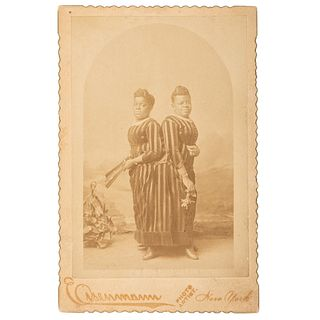 """Millie-Christine, """"The Two Headed Nightingale,"""" Early Photography, Ca1860s-1870s"""