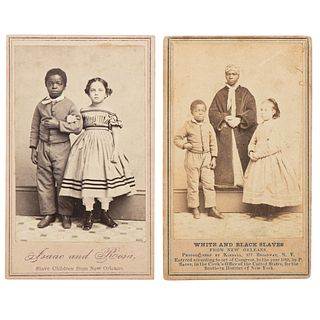 White and Black Slaves from New Orleans CDV, Plus