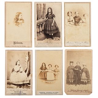 Slave Children from New Orleans, Collection of Twelve CDVs