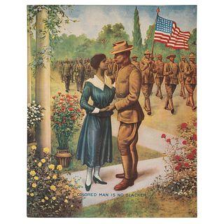 World War I Poster, Colored Man is No Slacker, Chicago, Illinois, 1918