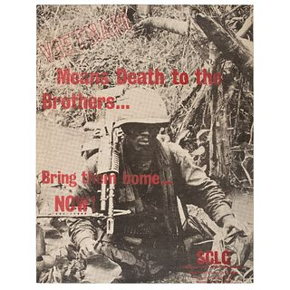 Vietnam Means Death to the Brothers, Vietnam War Protest Poster, ca 1960s