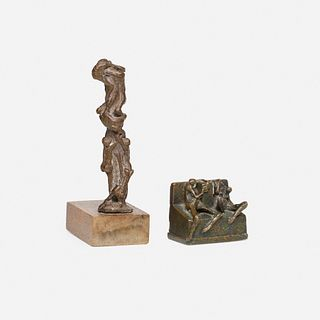 Carlos Prada, Born of Clay and Throne (or Two Seated Figures) (two works)