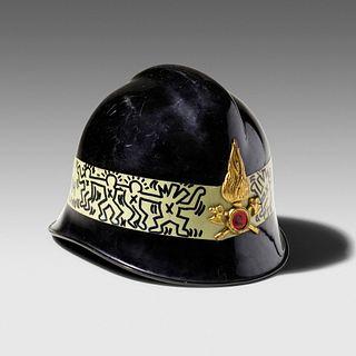 Keith Haring, Untitled (City of Milano fireman's helmet)
