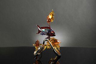 Boxed Swarovski Crystal Sea Goldies, Topaz