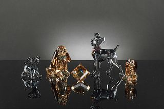 5 Boxed Swarovski Crystal Lady and the Tramp Pieces