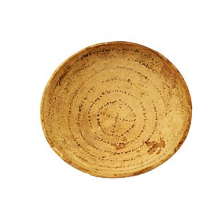 Ancient Aramaic Incantation Bowl c.6th-5th century BC.