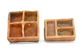 Lot of 2 Ancient Roman Terracotta Cosmetic Containers c.1st century AD.