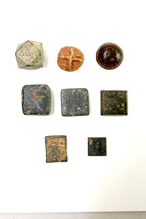 Lot of 8 Ancient Roman, Byzantine Bronze Weights c.1st -6th century AD.