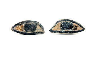 A Pair of Ancient Egyptian Stone Eyes c.700 BC.