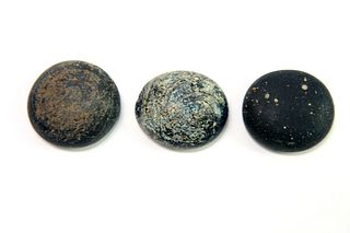 Lot of 3 Ancient Roman Glass weight c.1st-2nd century AD.