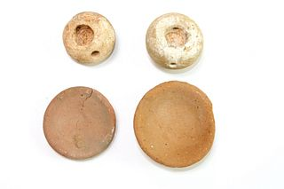 Lot of 4 Ancient Egyptian Stone, Clay Miniature Vessels c.700 BC.
