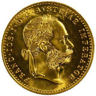 Austria: RESTRIKE 1915 Ducat Gold