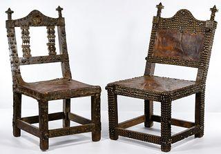 Ghana Ashanti Oak Court Chairs