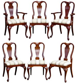Queen Anne Mahogany Upholstered Chair Assortment