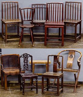 Asian Style Wood Chair Assortment