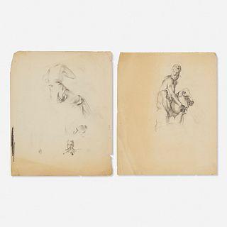 Franz Kline, Figure Studies (two works)
