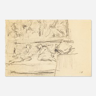 Édouard Vuillard, Two Figures Resting on a Sofa at the Chateau des Clayes