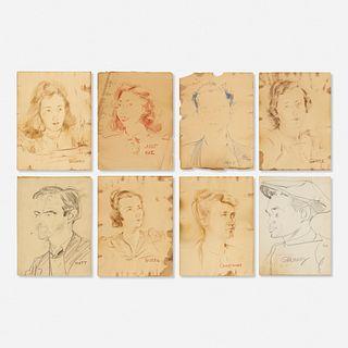 Franz Kline, eight works