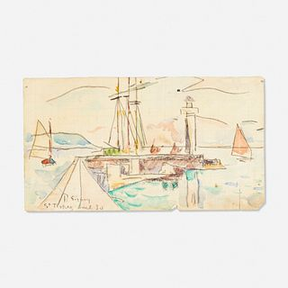 Paul Signac, Untitled (St. Tropez)