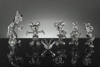 6 Boxed Swarovski Disney Showcase Collection
