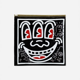 Keith Haring, Untitled (Pop Shop toiletry bag with radiant baby drawing)