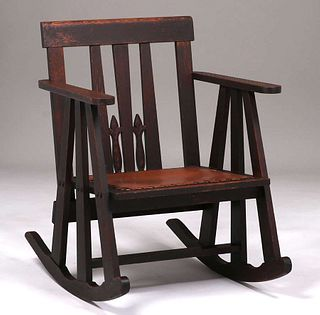 Early Stickley Brothers #736 Rocker c1901