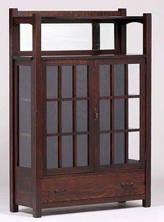 Grand Rapids Two-Door China Cabinet c1910
