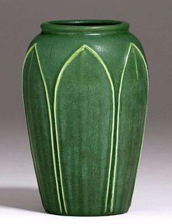 Hampshire Pottery Matte Green Vase c1910