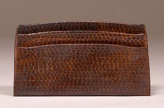 Roycroft Hammered Copper Letter Rack