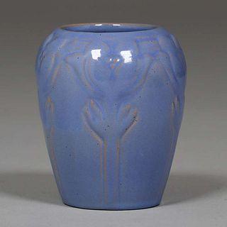 North Dakota School of Mines Carved Vase
