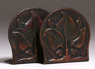 Agatha van Erp Student Hammered Copper Bookends 1912