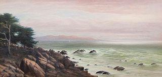 Alfred Villiers Farnsworth Watercolor Monterey Bay