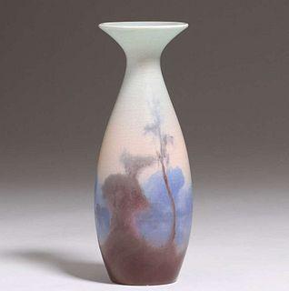 Rookwood Fred Rothenbusch Scenic Vellum Vase 1917