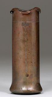 Roycroft Hammered Copper Cylinder Vase