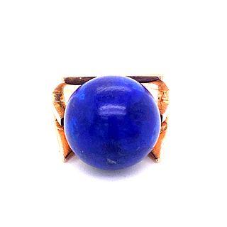 Avant-garde 14k Lapis-lazuli Ring