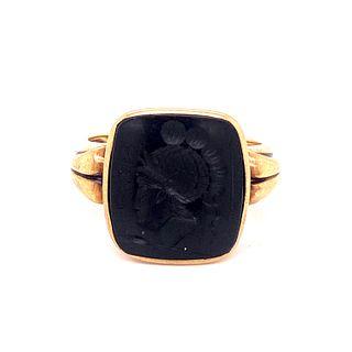 Victorian 10k Carnelian Seal Ring