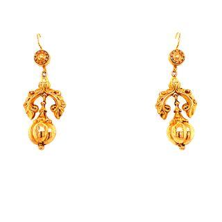 Victorian 15k Hook Earrings