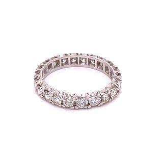 Platinum Eternity Diamonds Ring