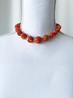18k Sponge Coral Necklace