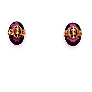 Victorian 14k Turmalines Earrings
