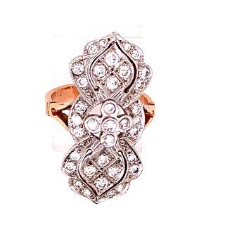 18k & Platinum Diamonds Ring