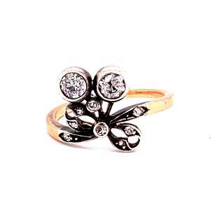 Victorian14k&Silver Diamond Ring